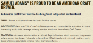 Sam Adams - Craft Brewer